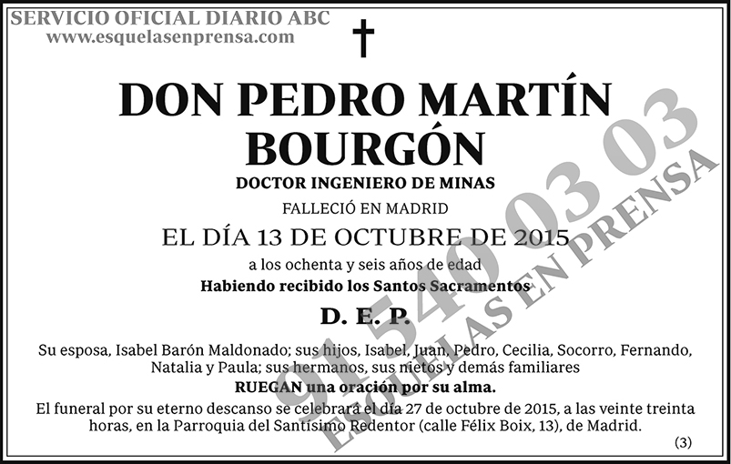 Pedro Martín Bourgón